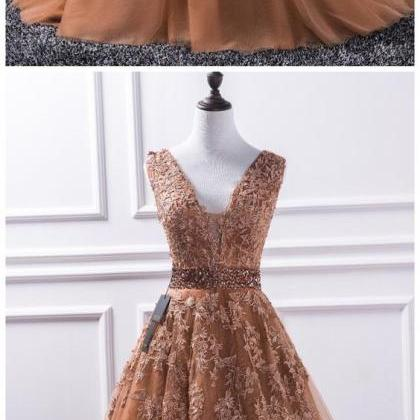 Simple Prom Dresses,New Prom Gown,V..