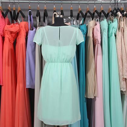 Mint Green Bridesmaid Dress, Short ..