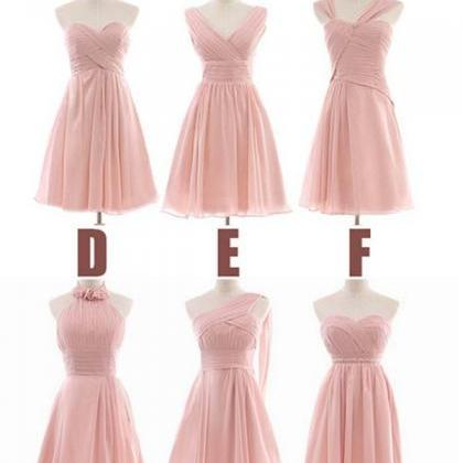 peach bridesmaid dress, short bride..