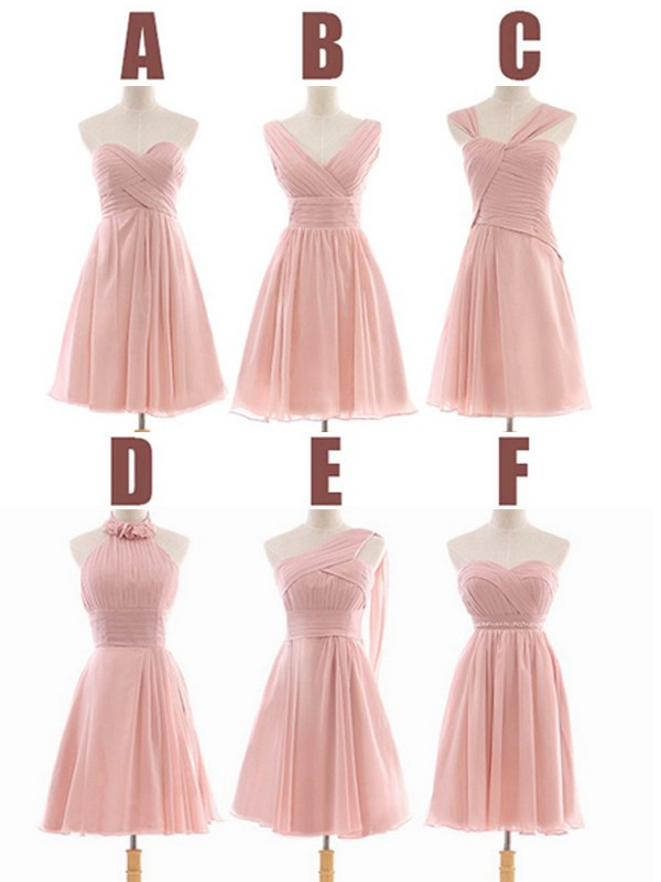 Peach Bridesmaid Dress Short Bridesmaid Dress Bridesmaid Dress