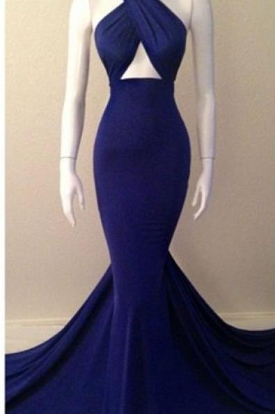 Sexy Mermaid Evening Dresses Sleeveless Glorious Court Train Gowns,PD0821