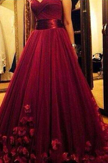 Burgundy Prom Dresses,Wine Red Prom Dresses,Formal Gown,Ball Gown Evening Gowns,Modest Party Dress,Prom Gown For Teens,PD3064