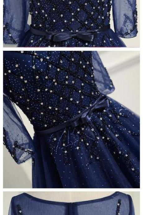 prom dresses a line,prom dresses long,prom dresses with sleeves,gorgeous prom dresses,prom dresses navy,PD14632