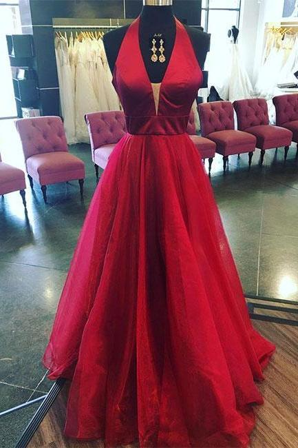 Simple Prom Dresses,New Prom Gown,Vintage Prom Gowns,Burgundy v neck long prom dress, burgundy evening dress,PD14706