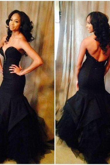 High Quality Prom Dress,Sweetheart Prom Dress,Mermaid Prom Dress,Backless Prom Dress,Noble Evening Dress