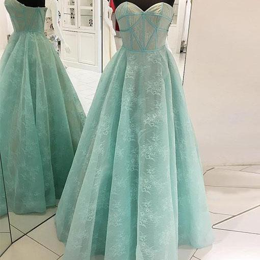 Simple Prom Dresses,New Prom Gown,Vintage Prom Gowns,Mint green long prom dress, sweetheart neck evening dress,PD14667