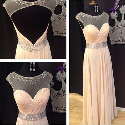 cap sleeve prom dress, backless prom dress, elegant prom dress, evening dress, formal prom dress, pretty prom dress, BD51